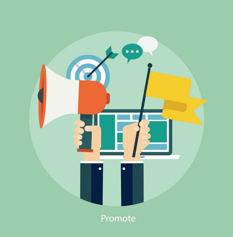 Promocionar la web para captar alumnos